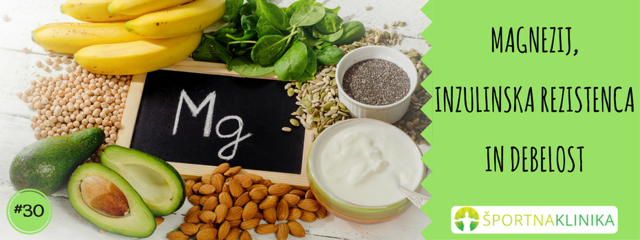 Magnezij, inzulinska rezistenca in debelost