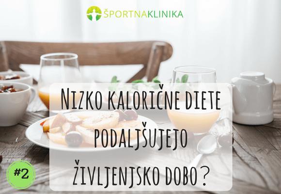 Nizkokalorične diete podaljšujejo življenjsko dobo